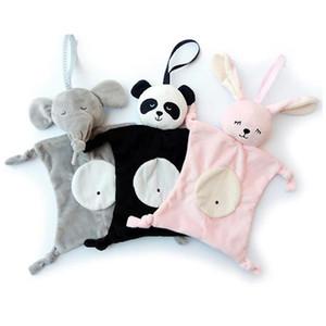 Baby успокаивающий комфортное полотенце Panda кролика безопасности одеяло детские игрушки успокаивающие полотенце младенческие многофункциональные слюны полотенце