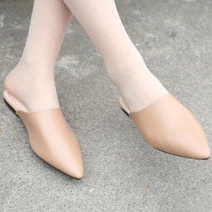 Slippers Pointed Chaussures Femme Platform Half Pack Sandals Women Flip Flop Shoes 2021 Summer Zapatilla
