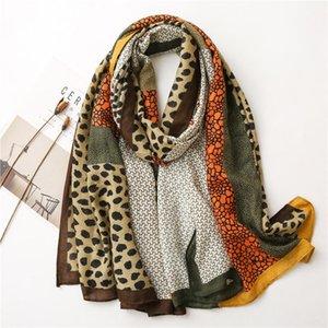 Scarves Fashion Animal Leopard Dot Fringe Visc Print Cotton And Linen Scarf Women's Winter Wild Long Spring Autumn Shawl