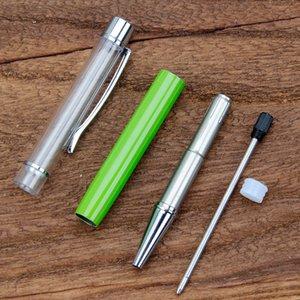 كتابة هدية diy أنبوب فارغة أقلام حبر جاف المعادن ملء الذاتي بريق مجففة زهرة الكريستال القلم أقلام 27 اللون 188 S2