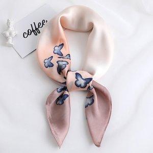 Autumn new fashion plain decorative art professional small scarf elegant women sunscreen scarves QT64