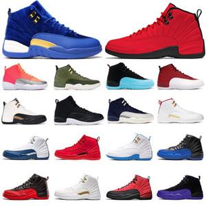2021 Новые Скидка Дизайнер Человек Баскетбол Обувь 12 быков CNY Игра Королевский UNC Университет Синий 12 12S Мужская Обувь на открытом воздухе Спортивная обувь