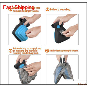 Dog Pet Travel Foldable Pooper Scooper With 1 Roll Decomposable Bags Poop Scoop Clean Pick Up Excreta Cleane jlldUh bdebag