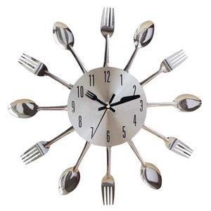 1pc Living Room Decor Cutlery Fork Kitchen Restaurant Mechanism Clocks And Clock Design Spoon Wall Knife Noiseless Eanpr