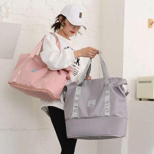 Fashion handbag large capacity travel storage NEW RETRACTABLE waterproof shoulder women's sports fitness bag