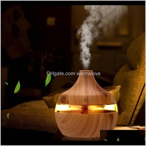 2020 New Aromatherapy Essential Oil Diffuser Bamboo Humidifier Wood Grain Ultrasonic Cool Mist Diffusers With 7 Led Color Light 02P70 Z5Uag