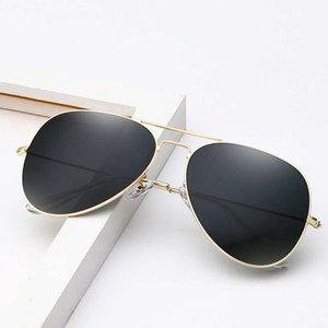 DCOPTICAL Double Bridge Classic 2021 Fashionable Trends Round Pilot Glass Lens Metal Sunglass