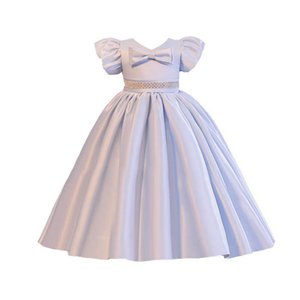 Girls Dresses Children Clothing Kids Clothes 1st Birthday Dress For Baby Girl Princess Wear Long Christmas Party Formal Bows B8522