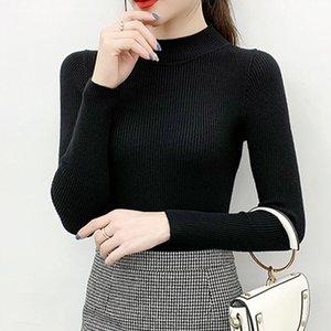 Coren for Women Sweter 2021 hiver tricoté sweet turtleneck solide vintge sweter blck manches longues manches longues top femmes 0826