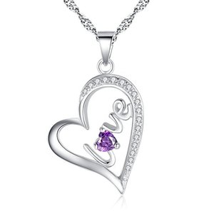 New Heart Pendant Love Couple Necklace Accessories Valentine's Day Gift
