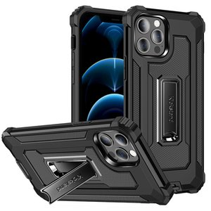 Shockproof Armor Kickstand Phone Case For iPhone 12 11 Pro Max Xs Xr Xs Max 7 8 Plus Samsung S10 S20 Note 20