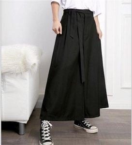 Pantalones para hombre Nuevo estilo japonés Pantalones casuales Peluquero Estilista Cinturón Hombre Pantalones Nueve minutos de ancho Pierna.