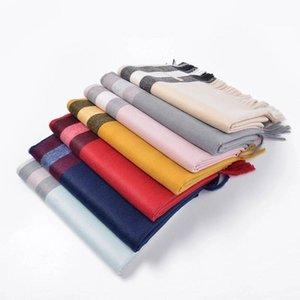 2021 novo designer de inverno luxo 100% cashmere lenço para mulheres e homens grandes verifique lenços pashmina infinito lenços xales Echarpe 200 * 70cm