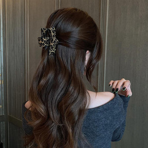 Cloth Leopard Pattern Big Grip Back of the Japan and South Korea Hairpin Head New Fashion Hair Accessories in 2021