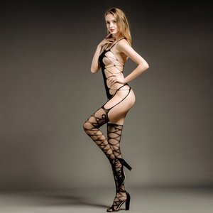Buy Erotic lingerie to send a party mask Sexy lingerie feminine sense perspective hollow breast open file conjoined stockings wholesale