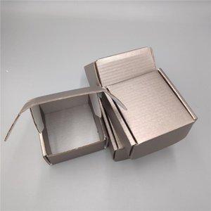 8 * 8 * 4CM 10pcs 금속 갈색 골판지 종이 선물 상자 우편물 패키지 사각형 종이 선물 포장 상자 우편