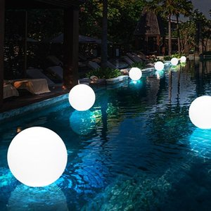 1Set Colorful Outdoor Garden Glowing Ball Lights with Remote Patio Landscape Pathway LED Illuminated Ball Table Lawn Lamps