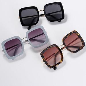 New Arrival Fashion Korean Style Trend Semi-Metal Oversized Frame Outdoors Women Sunglasses Eyewear