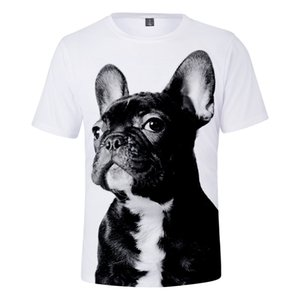 French Buldog 3D Print T Shirt Women Men Summer Fashion O-neck Short Sleeve Funny Tshirt Graphic Tees Streetwear Harajuku Tops