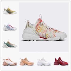 Dior D-connect Series printing shoes Mnes Женщины Повседневная Обувь Неопрен Grosgrain Лента D-Connect Кроссовки Комфорт Дамы Обелки Резиновые Обувь Повседневная Обувь