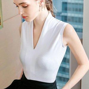 2021 New Spring Summer Fall Women's Tops V-Neck Sleeveless Gothic Shirt Sexy Harajuku Shirt Korean Slim Fashion Clothing