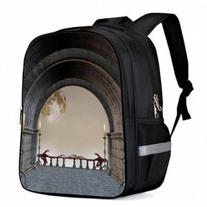Corridor Radian Palace Interior Classical Laptop Backpacks School Bag Child Book Bag Sports Bags Bottle Side Pockets 82dW#