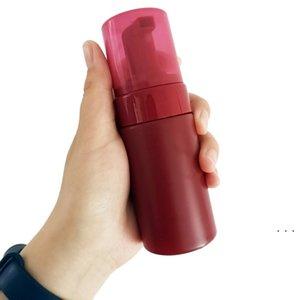 100 ml 150 ml Köpük Pump Şişeleri Boş Kırmızı Plastik Köpük Şişeleri El Yıkama Sabunu Mus Krem Dağıtıcı Köprennebentli Şişe Etiket BWF5380