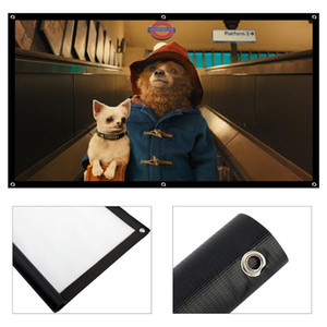 16 9 Portable Foldable Projector Screen 84 Inch Wall Mounted 3D HD Projection Screen fabric Canvas for Home Cinema Theater