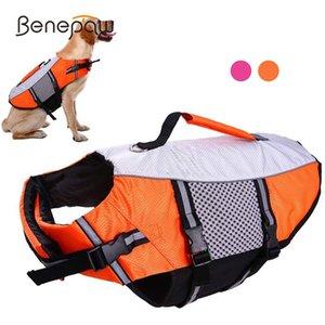 الكلب الملابس benepaw lifejacket القوارب المنقذ الحيوانات الأليفة ملابس الحيوانات الأليفة العاكس قابل للتعديل عالية الرؤية ripstop