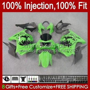 Injection pour Kawasaki Skull Black Ninja ZX250R EX250 2008 2008 2009 2011 2012 13HC.25 EX250R ZX-250R ZX250 ZX 250R 08 09 10 11 12 Séparer