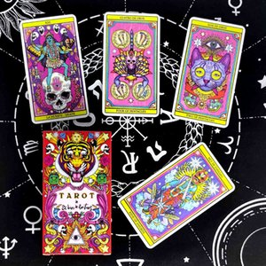 Tarot The God of the Three Cards Prophecy Divination Deck Spanish Version Entertainment Board Game 78 Sheets Box