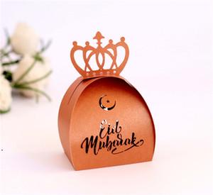 Musulmano Ramadan Festival Festival Box di carta islamica Eid Mubarak Carta da sposa Candy Regalo Case Case Hollow Laser Candy Box DHD4748