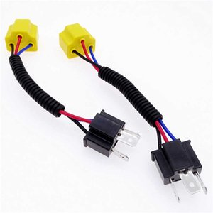 H4 2Pcs for Car Fog Light Bulb Light Socket Headlight Female To Male Wired Harness Adpater Base LED Bulb Adapter Car Accessories