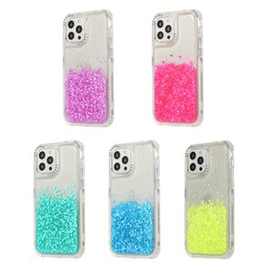 3 in 1 Hybrid Armor Sparkle Clear Back Cover Shockproof for iPhone 12 Mini 11 Pro Max XR XS 6s 8 Plus SE