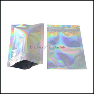 Kitchen & Gardenkitchen Housekee Bk Foods Storage Organization Home Garden Food K Resealable Smell Proof Bags Foil Holographic Flat Bag 2030
