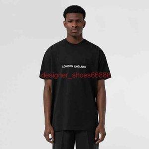 21SS Tshirt Summer Mens Designer Designer di lusso T Shirt da donna Londra Inghilterra Inghilterra Lettera classica Stampa Casual Cotone TSHIRT TEE TOP