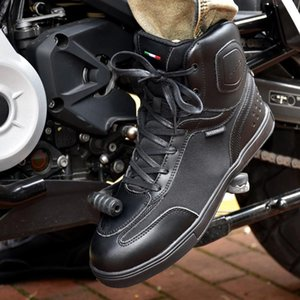 SHAD Motorcycle Boots Men Casual Shoes Microfiber Leather Moto Motocross Riding Boots Summer Breathable Motorbike Shoes