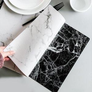 Mats & Pads PU Marble Texture Design Table Place Mat Antislip For Dining Tea Trivet