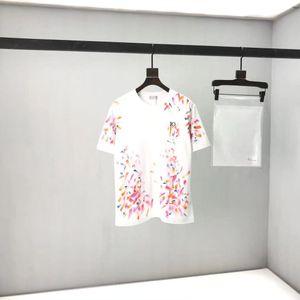 2020ss Bahar ve Yaz Yeni Yüksek Sınıf Pamuk Baskı Kısa Kollu Yuvarlak Boyun Paneli T-Shirt Boyutu: M-L-XL-XXL-XXXL Renk: Siyah Beyaz XZ24