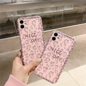 Fashion Pink Leopard Print Relief Phone Cases for IPhone 12 12 Pro Max 11 11pro Max X Xr Xs Max 7 8 Plus