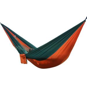 Portable Outdoor Hammock 2 Person Garden Sport Leisure Camping Hiking Travel Kits Hanging Bed Hammocks Hangmat For Playing KKD5005