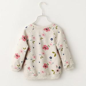 Kids Floral Pullover Sweater Boat Neck Long Sleeve Baby Girls Leisure Clothes Toddler Spring Summer Swing Hem Short Front Long Back