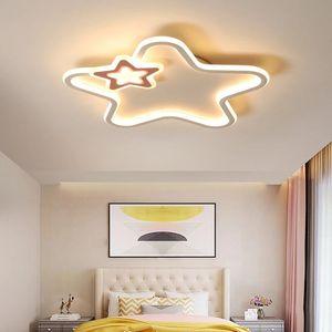 Morden Super Thin Children's Room Ceiling Lamp LED Princess Warm Romantic Bedroom Lamp Lovely Five Star Ceiling Lamp fixtures R181
