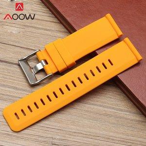 Bracelet de montre Source de silicone 24mm Sport Hommes de rechange en caoutchouc étanche Bande de courroie pour Suunto Traverse Smart Watch 0311