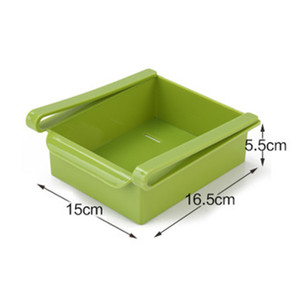 Plastic Kitchen Shelf Household Refrigerator Storage Holders Drawer Storage Rack Space Saving Drain Rack 4 Colors OWF5103