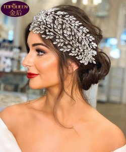Two Drainage Diamond Hoop Wedding Tiara Baroque Crystal Bridal Headwear Crown Rhinestone with Wedding Jewelry Hair Accessories Diamond Bridal Crowns Headpieces