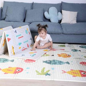 Foldable Baby Play Mat Xpe Kids Crawling Carpet Puzzle Educational Children Activity Rug Folding Blanket Floor Games Toys 210915