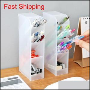 Wholesale New Creative Drawer Desk Sundries Storage Boxes Desktop Makeup Cosmetic Tools Organizer Stationery Pen Pencil Holder Uzqoe 37Fpc