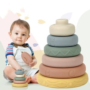 Children Early Education Educational Toys Soft Glue Jenga Jenga Baby Enlightenment Sensory Cognition Toy Party Favor YL418