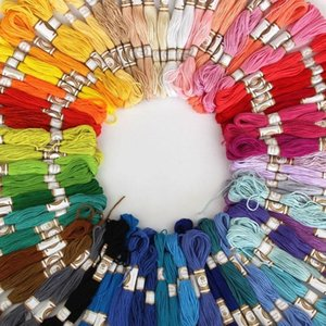 Yarn 2021 50 100PCS Cross Stitch Cotton Embroidery Thread Floss Sewing Skeins Craft Drop EST
